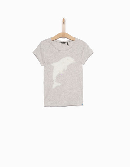 Camiseta niña gris - IKKS Junior