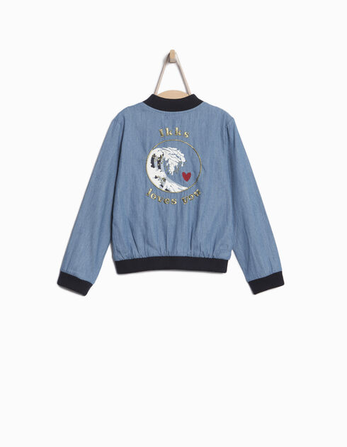 Girls' blue bomber jacket