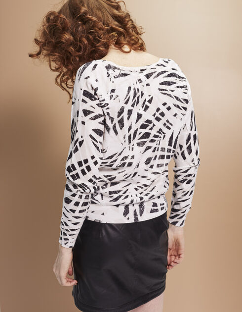 Women's printed sweater