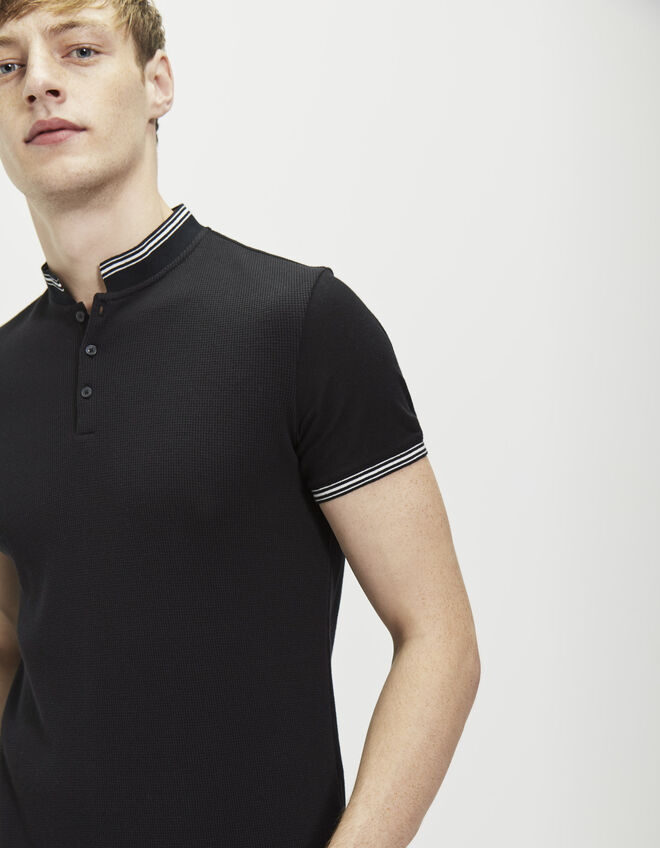 Men's black polo shirt