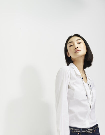 Women's white shirt - IKKS Women