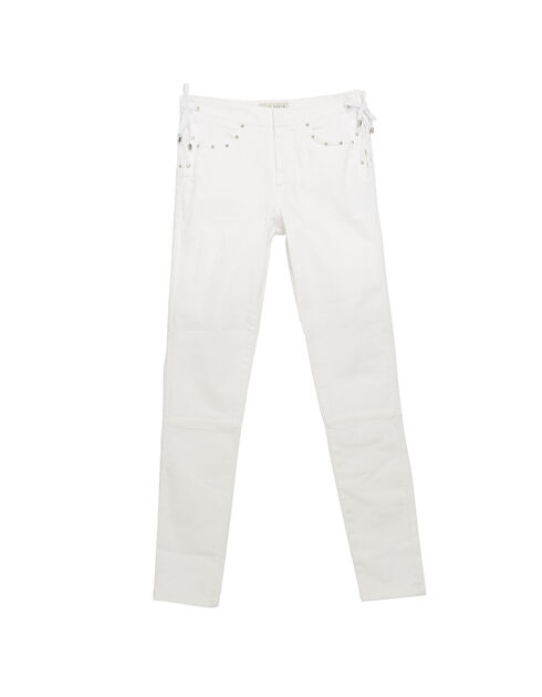 Slim fit jeans met veters