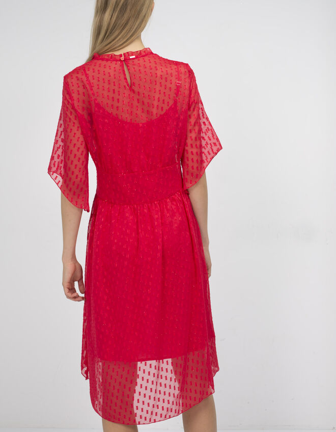 Dotted veil dress