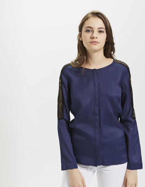 Women's blue shirt