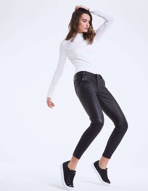 Women's lambskin trousers
