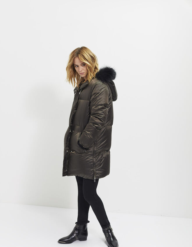 doudoune capuche femme ikks mode archive h16 automne hiver. Black Bedroom Furniture Sets. Home Design Ideas