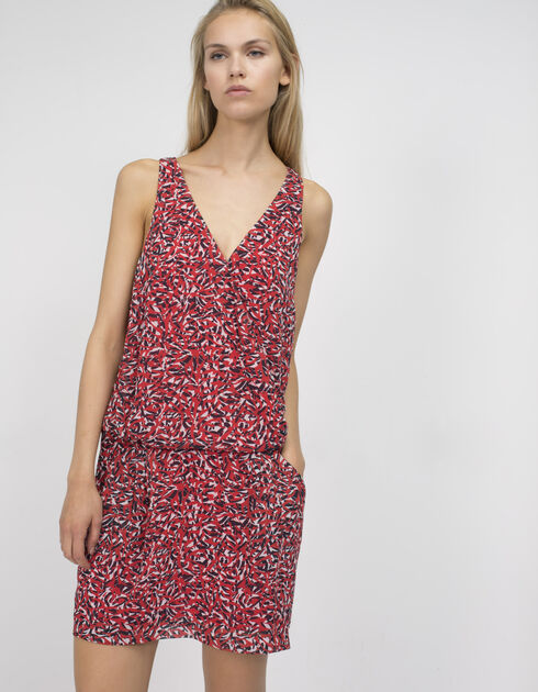 Women's printed voile dress