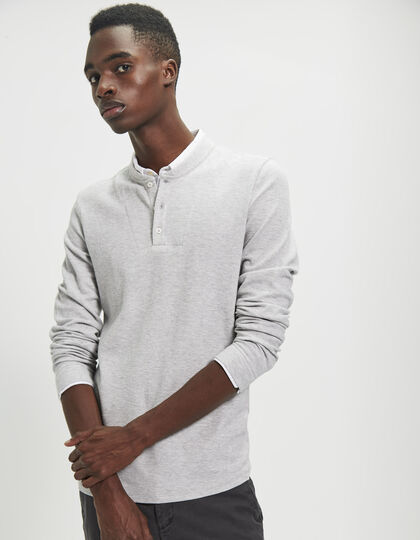 Polo gris homme - IKKS Men