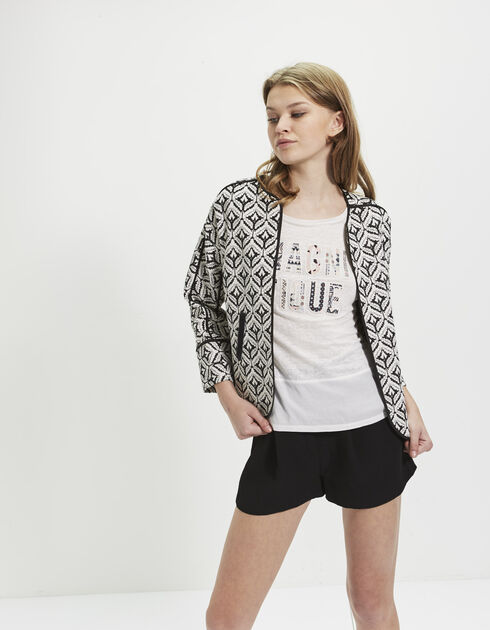 Women's jacquard jacket