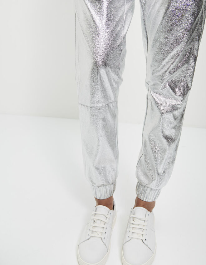 Women's metallic jogging pants