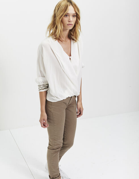 Wrap around silk blouse