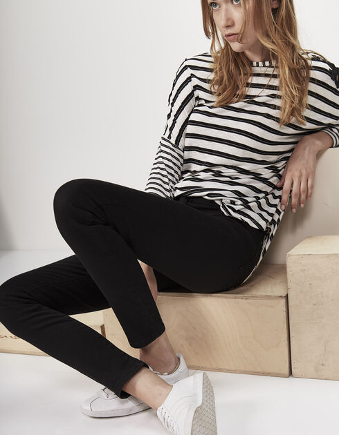 Zwarte slim fit dames