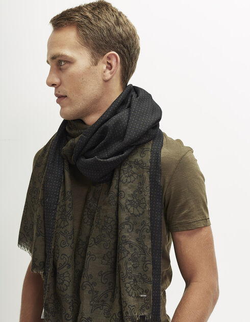 Men's double-sided scarf