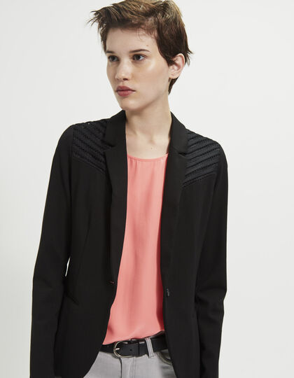 Women's black jacket - IKKS Women