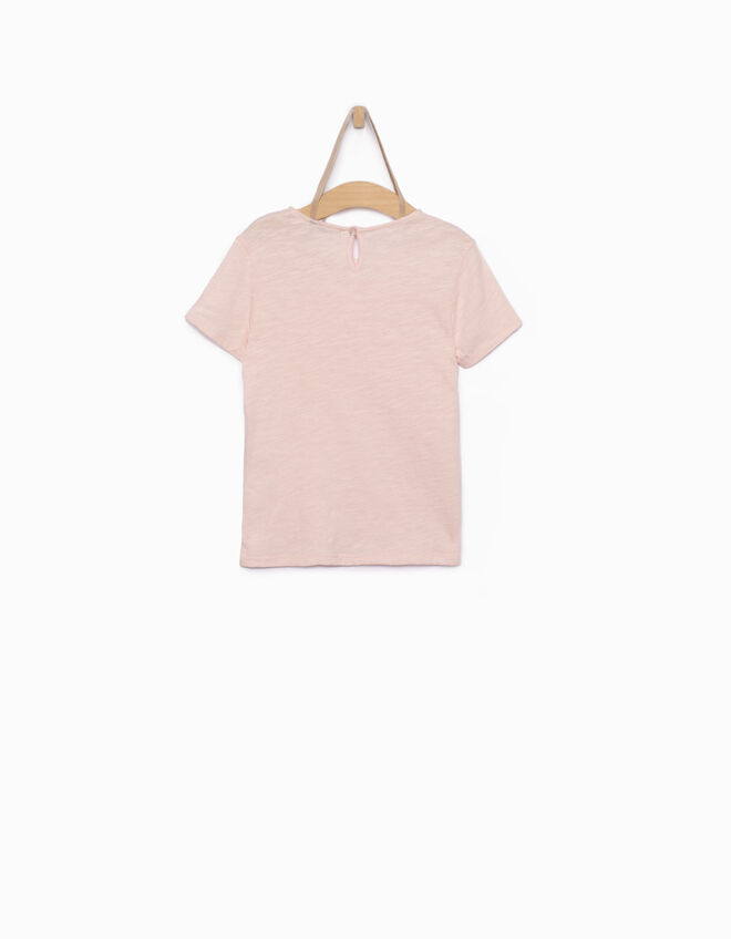 Tee-shirt fille rose