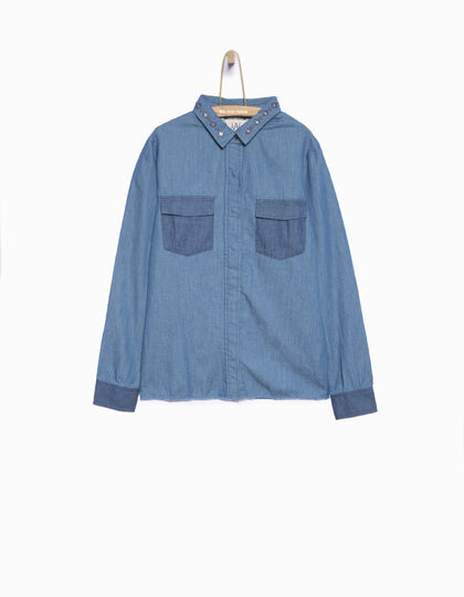 Girls' denim shirt  - IKKS Junior
