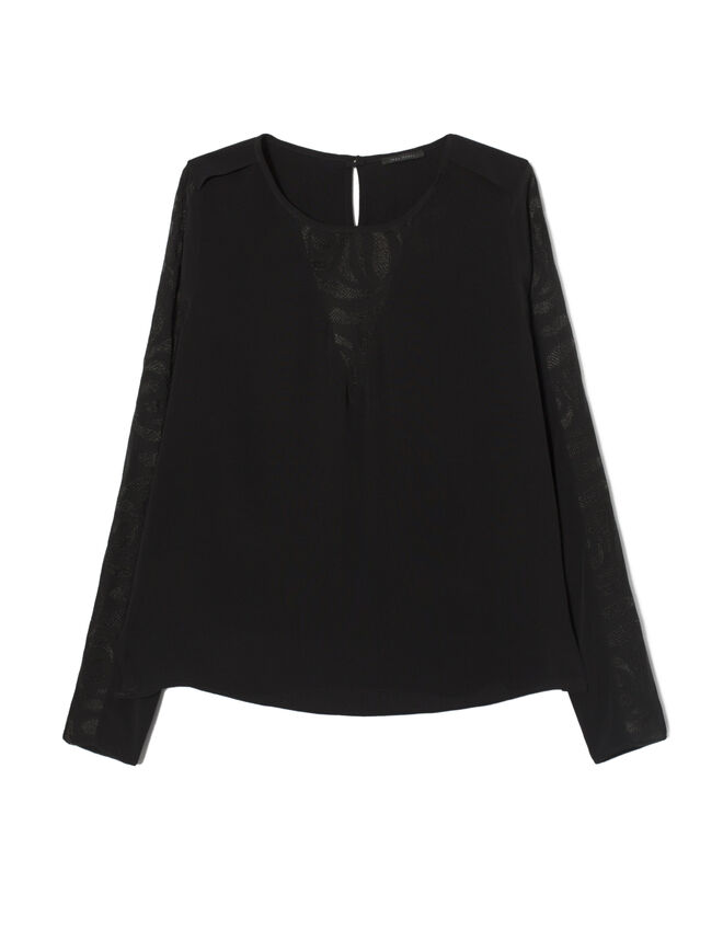 Women's embroidered voile blouse