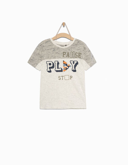Boys' grey T-shirt - IKKS Junior
