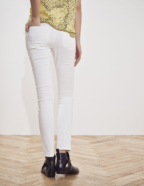 Women's white slim jeans