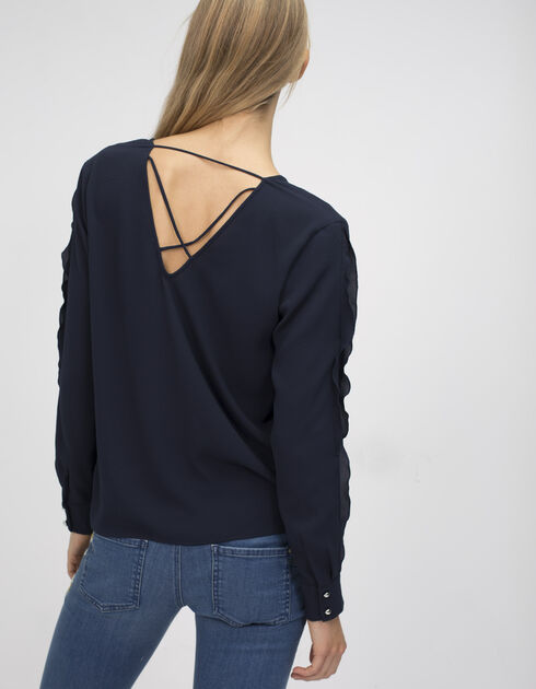 Women's navy blouse