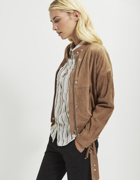 Women's goatskin jacket
