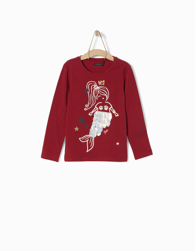 Tee-shirt rouge fille