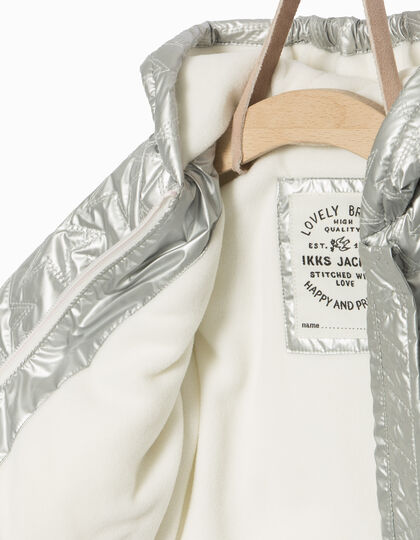 Silver padded jacket  - IKKS Junior