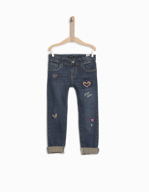 Girls' boyfriend jeans