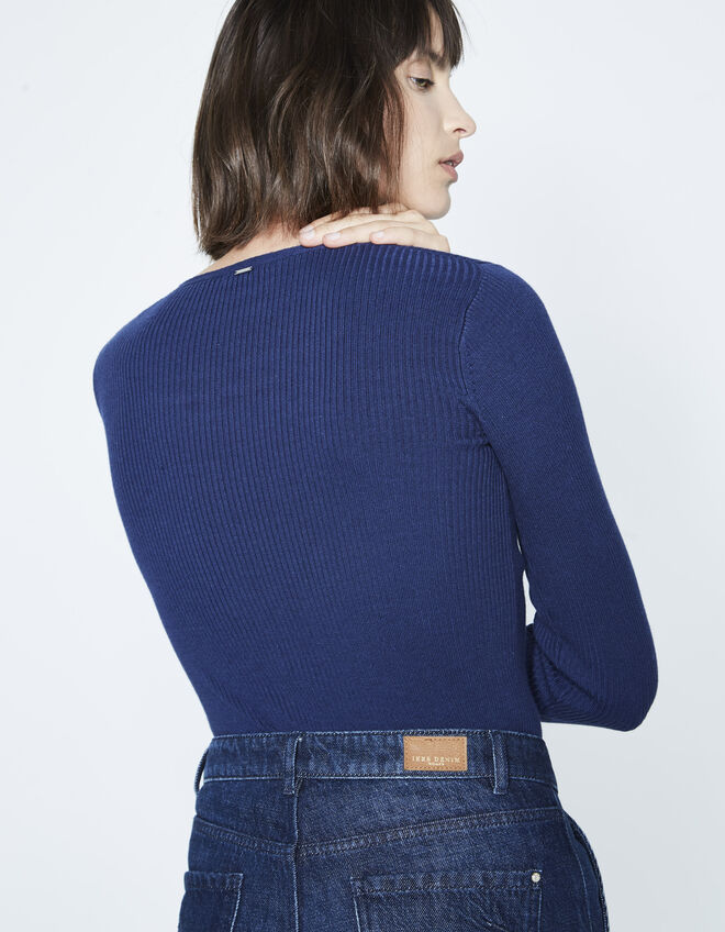 Women's laced neck sweater