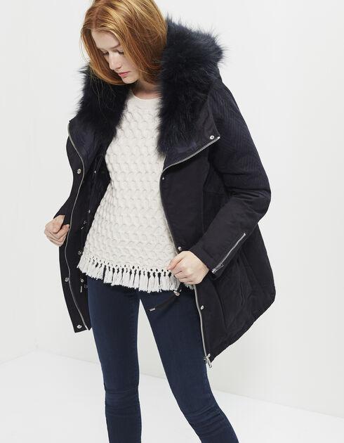 manteau femme ikks jusqu 60 pureshopping. Black Bedroom Furniture Sets. Home Design Ideas