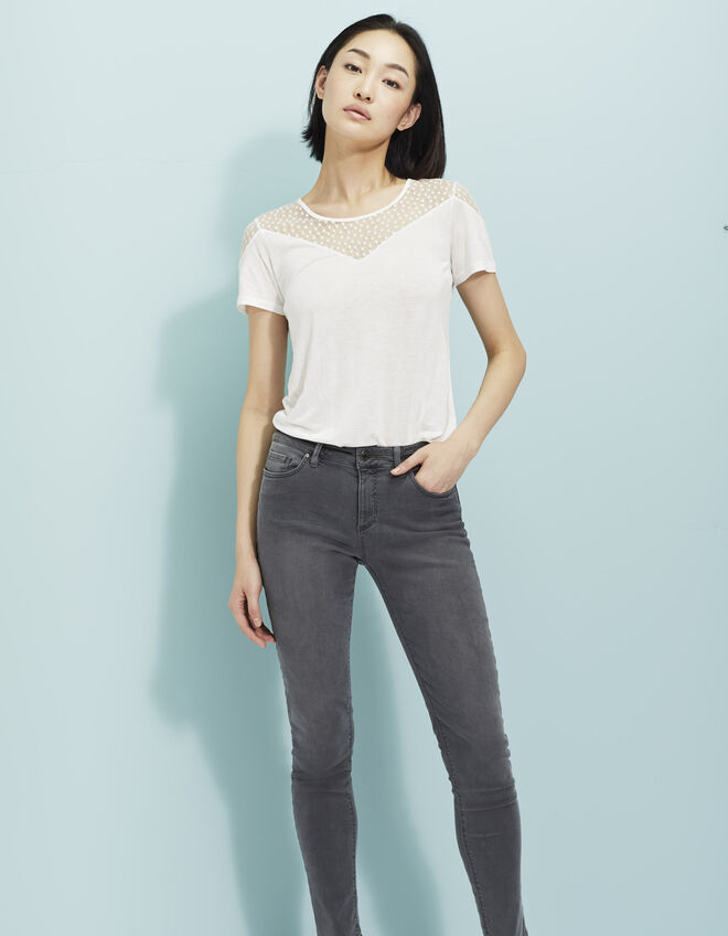 Women's grey slim jeans