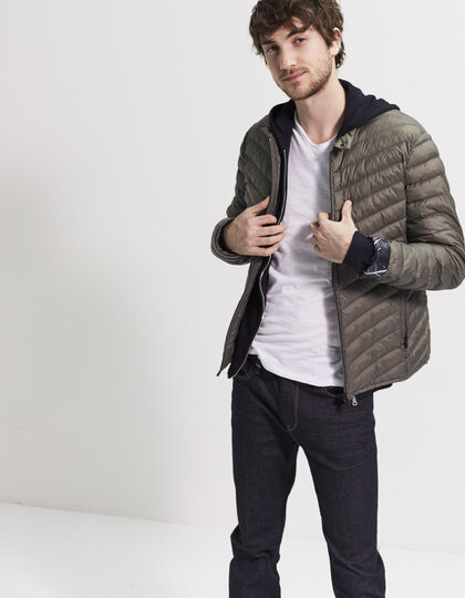 Men's khaki under-jacket - IKKS Men