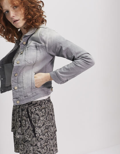 Women's grey denim jacket - IKKS Women