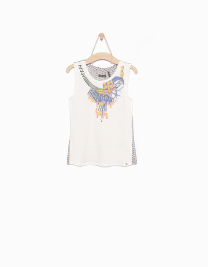Girls' white vest top - IKKS Junior