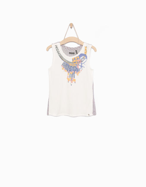 Girls' white vest top