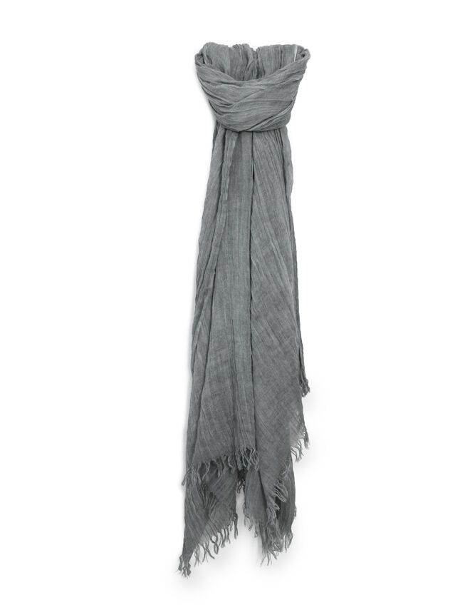 Women's grey scarf