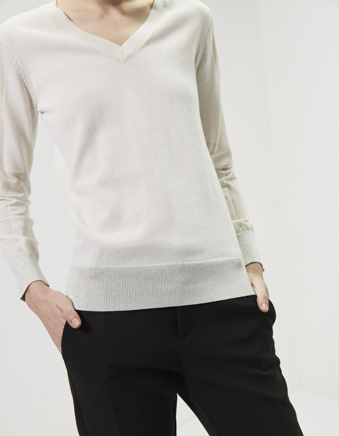 Women's metallic sports sweater