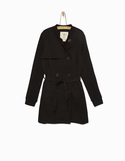 Girls' black trench coat - IKKS Junior