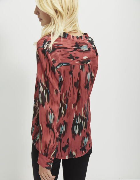 Women's printed silk blouse