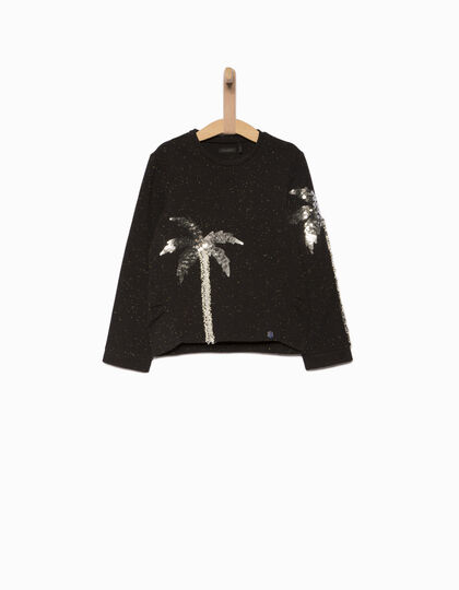 Girls' black sweatshirt - IKKS Junior