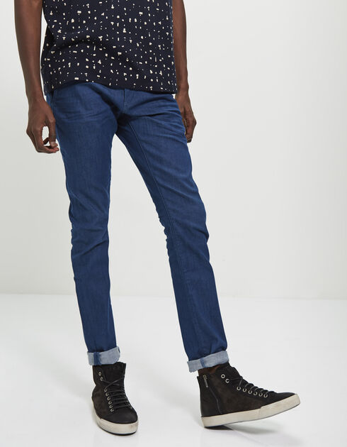 Pantalon tapered bleu homme