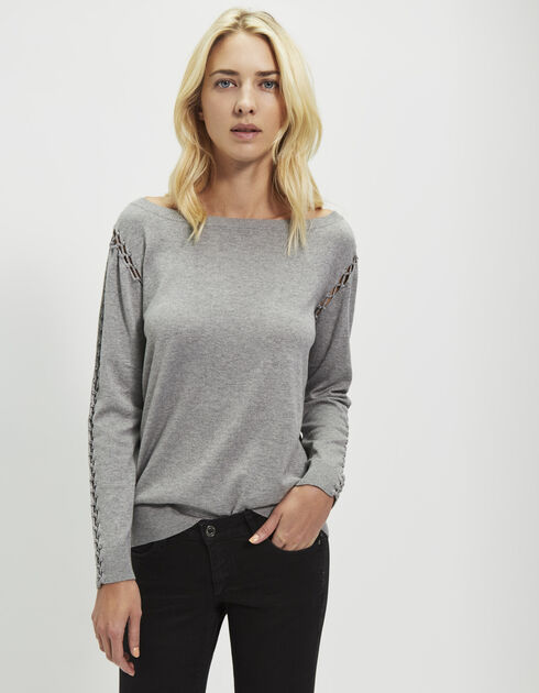 Women's grey sweater