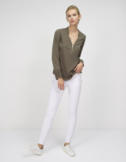 Blouse with zip collar - IKKS Women