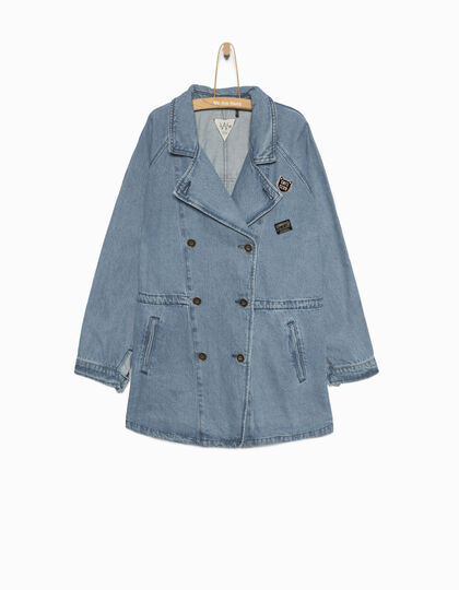Girls' denim parka - IKKS Junior