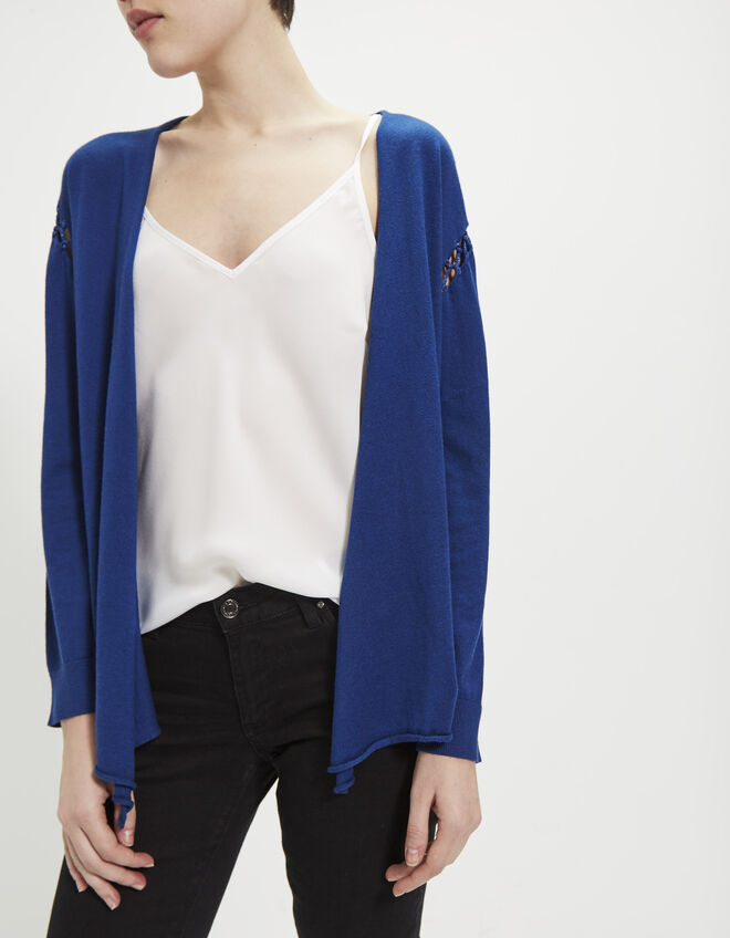 Women's blue cardigan