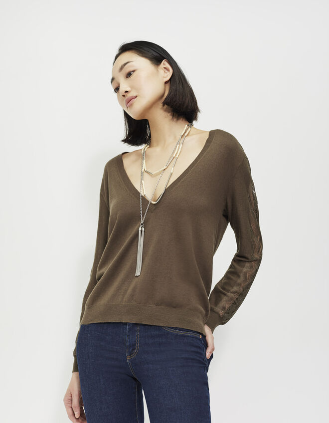 Women's V-neck sweater