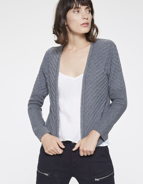 Grey jewel cardigan