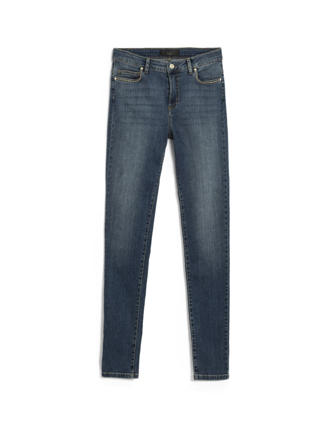 Blauwe slim fit jeans