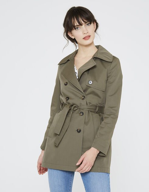 Trench court femme