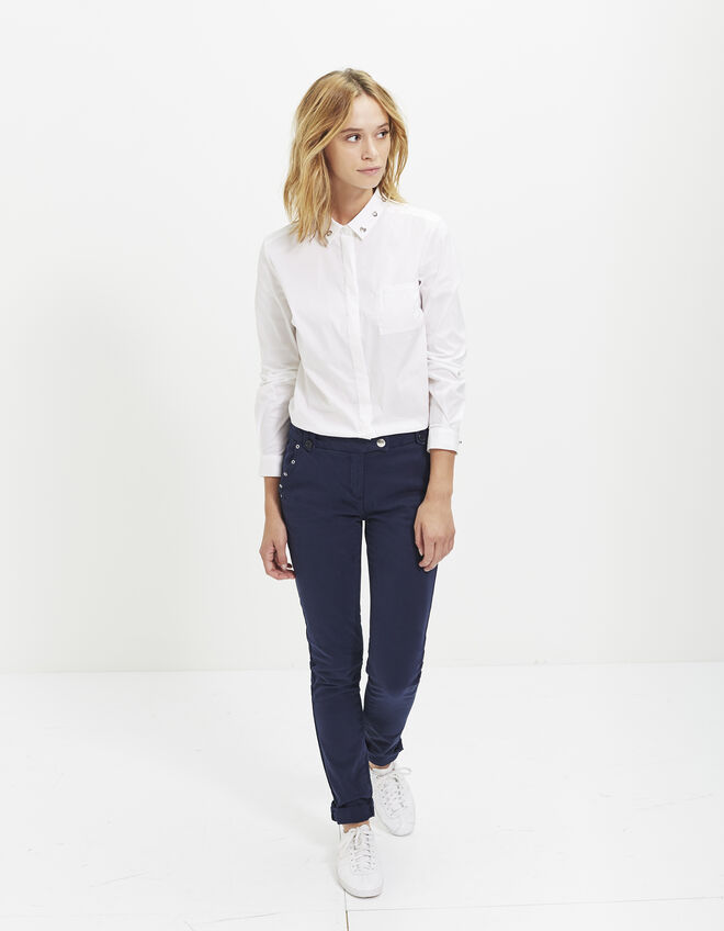 Women's blue chinos